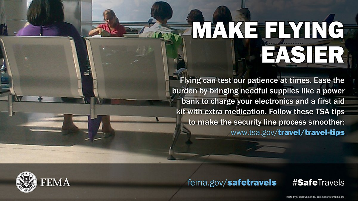 If you're traveling by plane for the holidays, review these security screening tips -  - from the @TSA . #SafeTravels