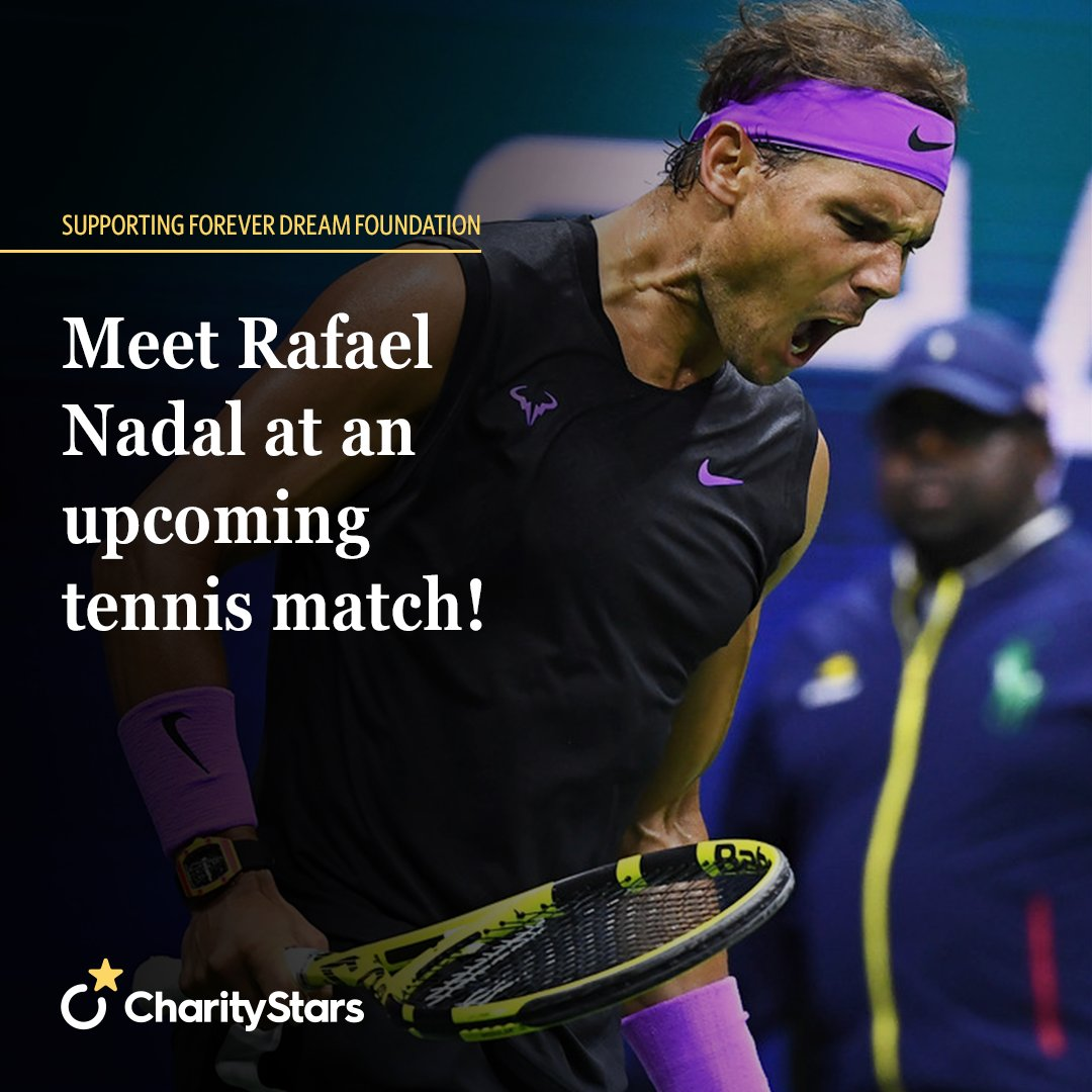 The Forever Dream Foundation provides experiences to underprivileged children and their families by making dreams come true through sports and entertainment. Support their cause and you can meet Rafa Nadal at an upcoming match! Bidding is now open: