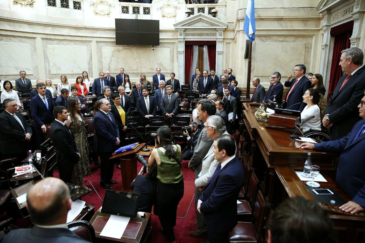 En @senadoargentina presidiendo la jura de los senadores electos. https://t.co/W5bRJHZ4c7
