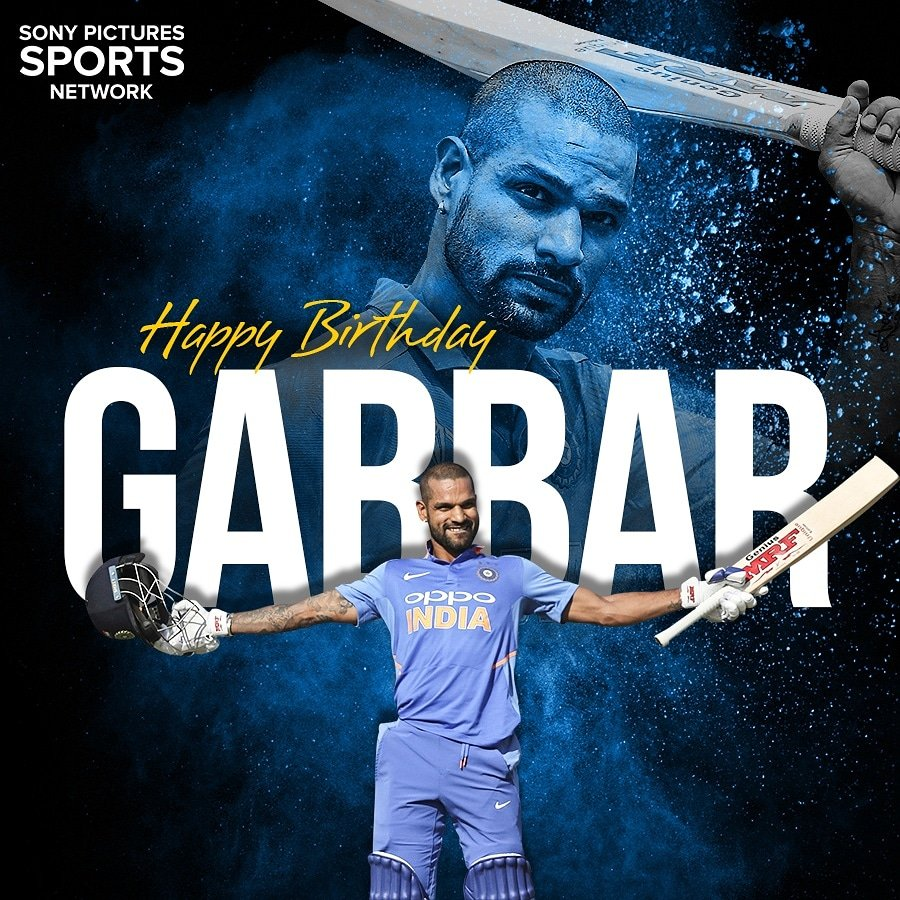 Birthday wishes to the man of ICC tournaments for India @SDhawan25 .   #SonySports #HappyBirthdayShikhar #HappyBirthdayShikharDhawan<br>http://pic.twitter.com/WM90hiR9Yc