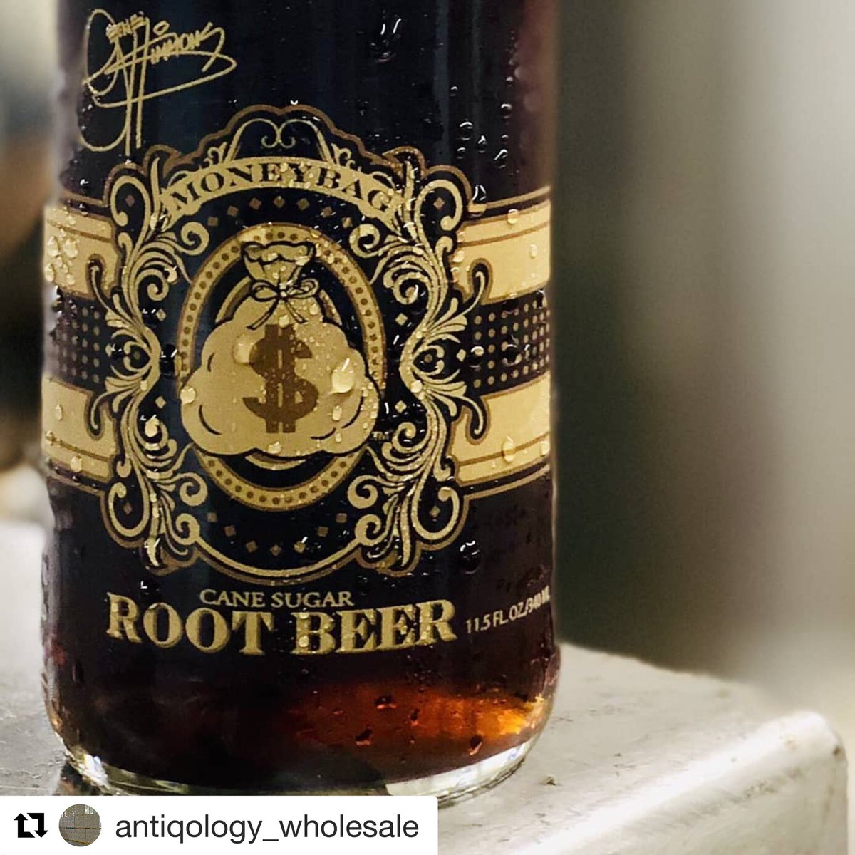 #Repost @antiqology_wholesale with @get_repost We are now stocking the Gene Simmons Moneybags sodas. All natural flavors, pure cane sugar, and screen-printed glass bottles. All flavors IN STOCK ready for immediate delivery to your business! #Antiqology #CraftSoda