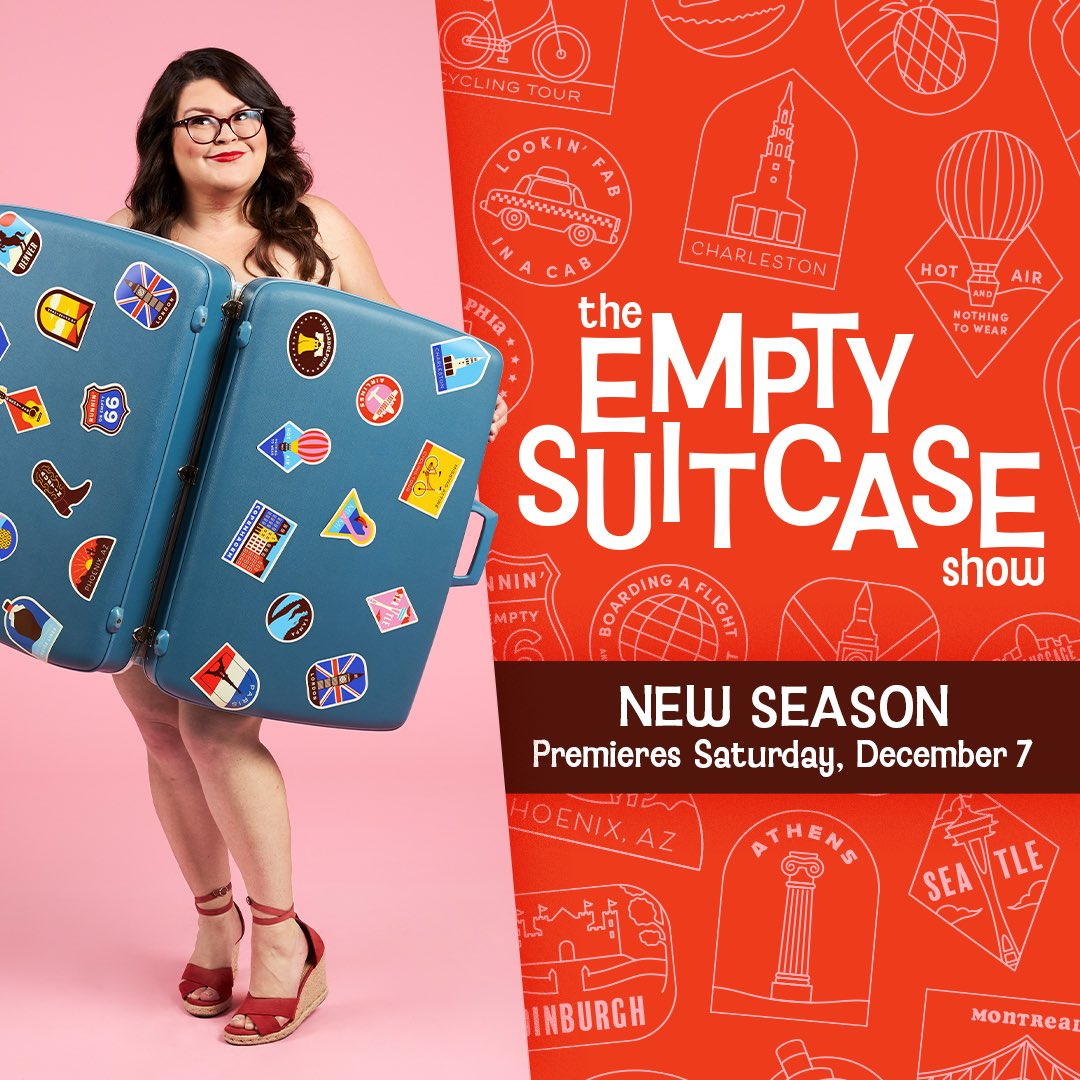 Hey, did you know I made a show where I, a plus size lady, went to 8 cities with just the clothes on my back? Its called The Empty Suitcase Show, it premieres this Saturday at 8 PM PST on the BuzzFeed facebook pages, and Id love to talk to literally any media human about it.