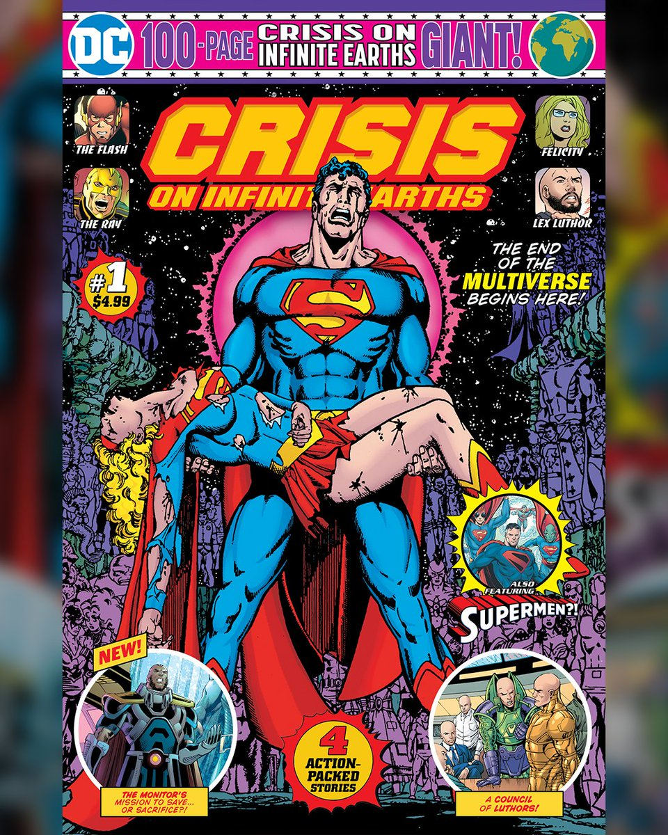 Get the two-issue comic book series of #CrisisOnInfiniteEarths, in stores starting December 15! bit.ly/2PcNoVP