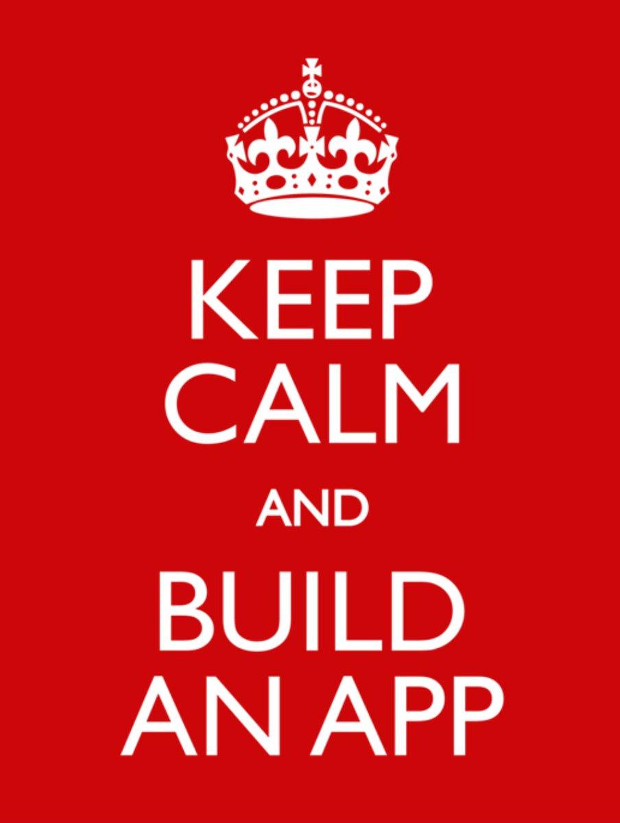 Keep Calm And Build An App ;) #CSforAll #edtech #edtechchat #suptchat #educaotors #TEACHers #appdev #appdevelopment #mobileappdevelopment #mobileapp<br>http://pic.twitter.com/mIqKFj6yWk