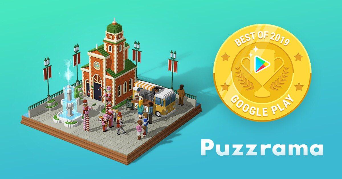 #Puzzrama がGoogle Play Best of 2019 インディー部門でトップ5に選ばれました!Google Play Best of 2019