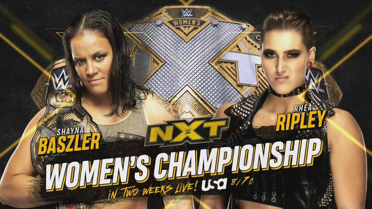 Rhea Ripley Vs. Shayna Baszler Title Match Set For December 18 WWE NXT Episode