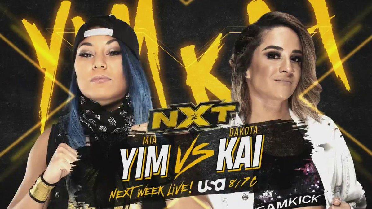 Mia Yim Vs. Dakota Kai And Angel Garza Vs. WWE NXT Cruiserweight Champion Lio Rush Set For Next Week