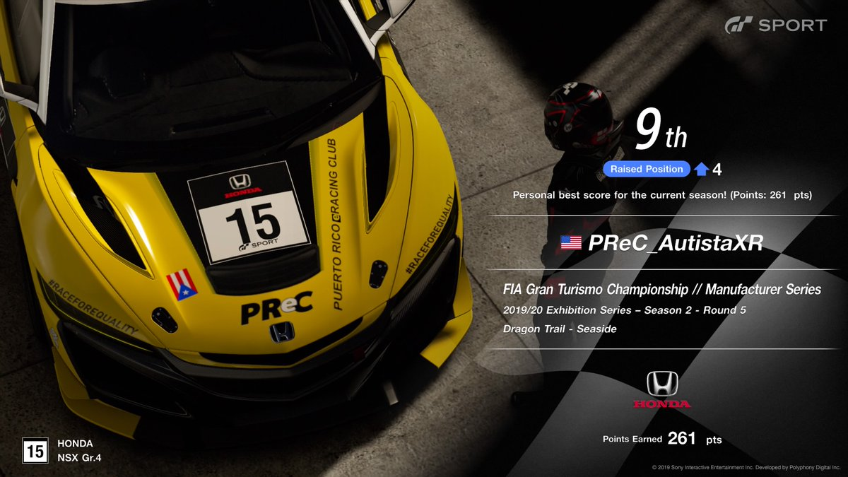 This is the result of my participation in the North America Top 16 #FIAGTC race. Bittersweet. Could've finished better. Held back bad. #GTSport @PedroMarzan14 grabbed 3rd place 😎 good night for #PReC! 🇵🇷🏁