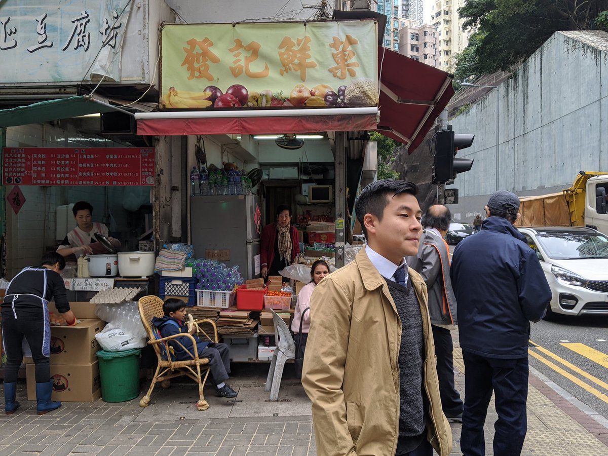 """#dc2019 - 21 years old Jordan Pang is among the youngest elected into district councils on the Nov 24 polls. The year 4 #hku student will soon have to run between his constituents and his books. """"Think of me as a full time councillor who also studies,"""" he said.<br>http://pic.twitter.com/8df4VPdxYU"""