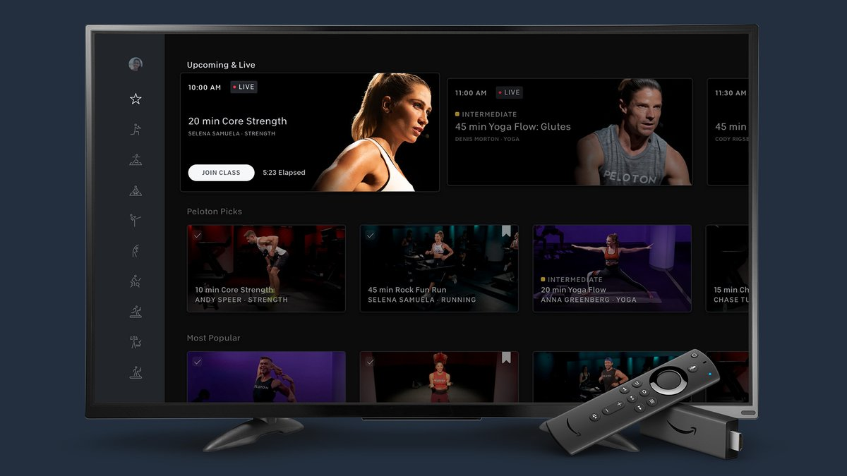 Peloton drops its digital subscription price and launches Fire TV and Apple Watch apps