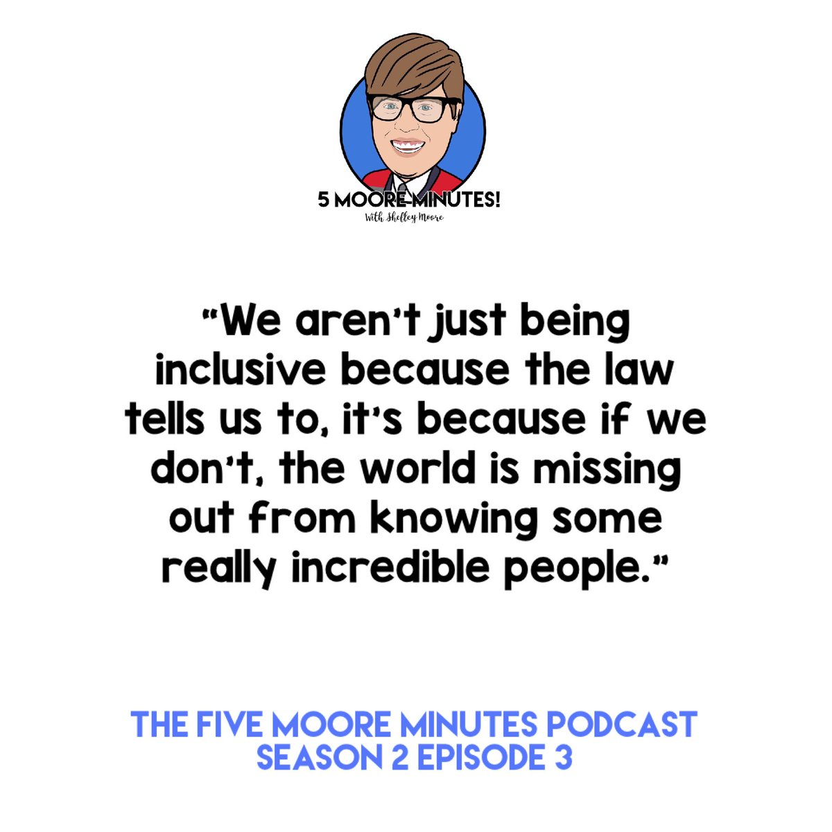 """Shelley Moore on Twitter: """"The last 5MM Podcast quote of the week! And the  reason why we do this work. https://t.co/ayieFIvjRC… """""""