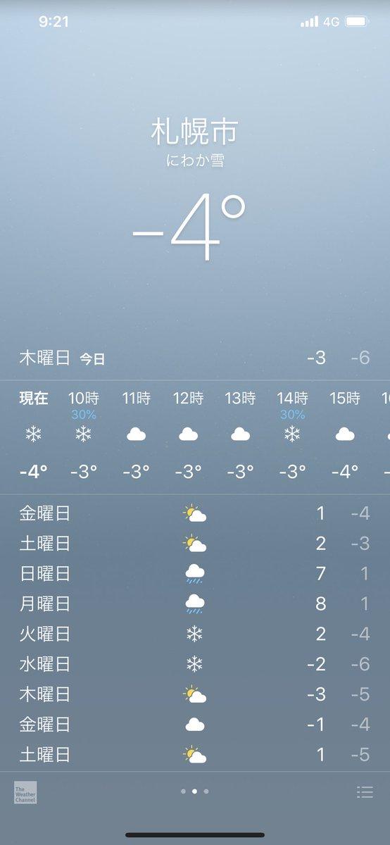気温 の 札幌 現在