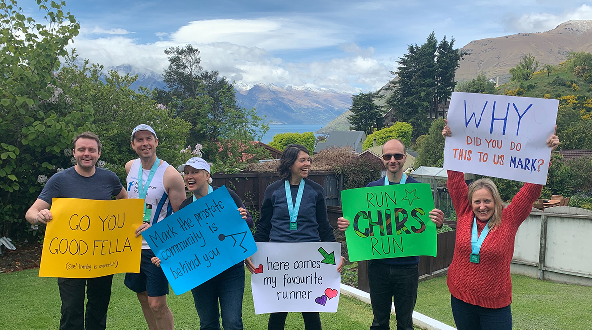 Shout out to Mark who recently flew to New Zealand for the #QueenstownMarathon, inspired to fundraise in honour of his father-in-law, recently diagnosed with stage-4 #ProstateCancer. Not only did Mark complete his first marathon, he raised $4600 and helped raise awareness.pic.twitter.com/5AwrLMI6vf