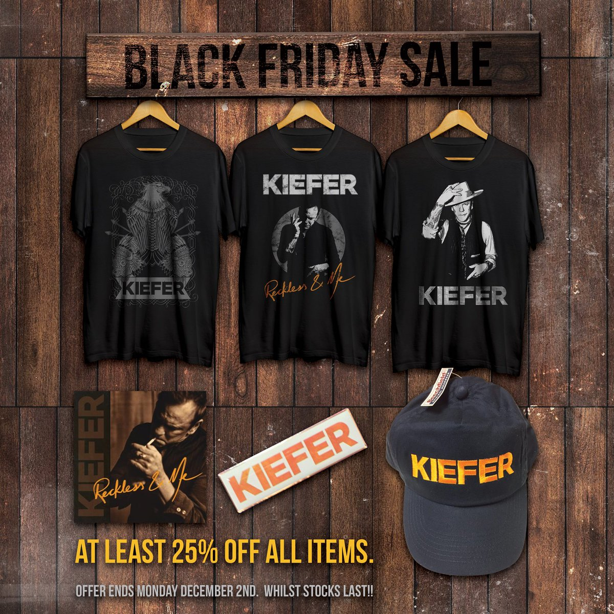 For those who celebrate it, Happy Thanksgiving, can't wait to see you out on the road! kiefersutherland.net/store