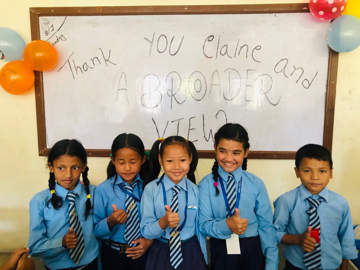 Celebrating the birthday of the children at the primary school in Nepal Kathmandu 🇳🇵. Donation from Elaine and Abroaderview, and also the laptop for the classroom.https://www.abroaderview.org/volunteers/nepal…#abroaderview #volunteer #volunteerabroad #gapyear #nepal #kathmandu #missiontrips #trips