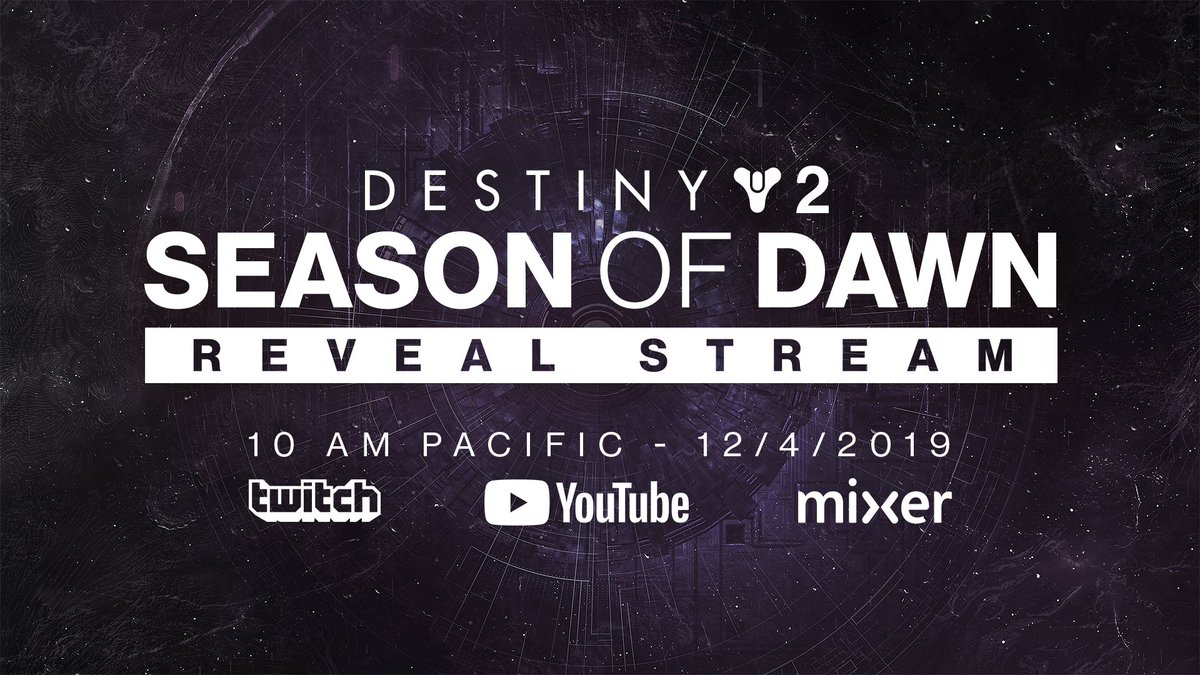 The next season of #Destiny2 content will be revealed next Wednesday live at 10am Pacific! Who's excited??  #Destiny #gaming #games #GamingNews #videogames #videogamenews #bungie #Bungiegames #OnlineGames #onlinegaming #FPSpic.twitter.com/OJxXxM8AcF