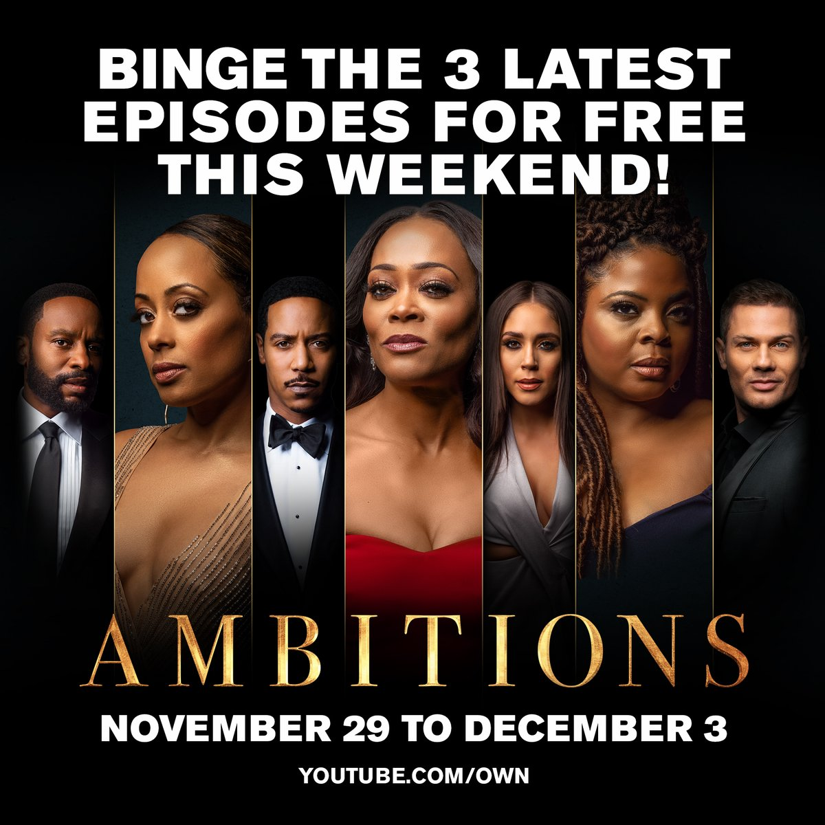 Today is your LAST DAY to catch up on the recent #Ambitions episodes, for FREE! Catch up right now so that youre ready for tomorrows all new episode at 10|9c. owntv.com/33yMXuj