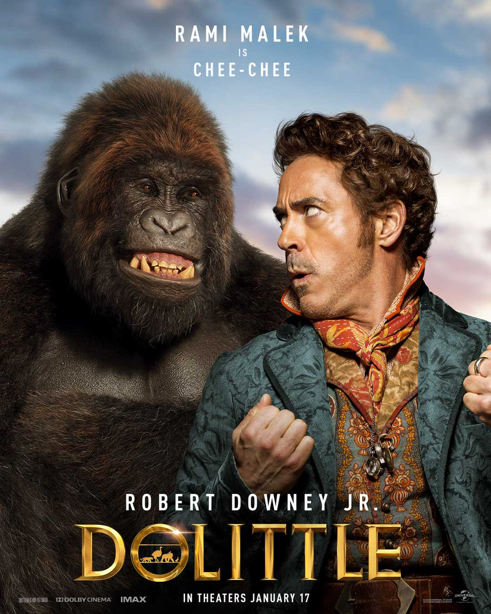 The Amazing Dolittle Character Posters Featuring Robert Downey Jr. Debuts