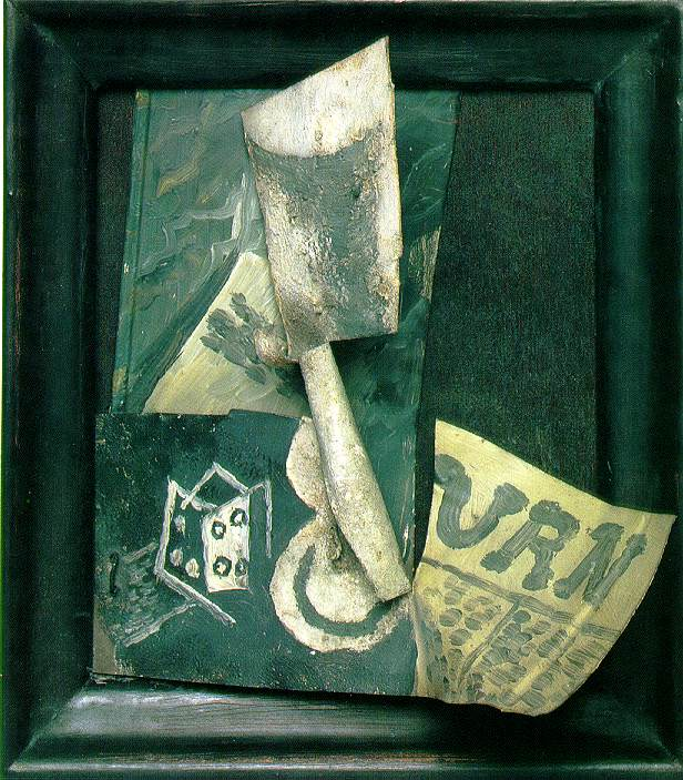 Glass and newspaper, 1914 #picasso #syntheticcubism <br>http://pic.twitter.com/txG0MvqJzw