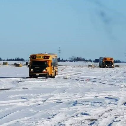 We are very serious about safety. Did you know that our drivers take a winter driving course? It comes in handy on days like today! Please be patient on snowy days - it may take our drivers more time to navigate snowy streets. #SafeDriving #RenfrewEducationalServices #RenfrewBus