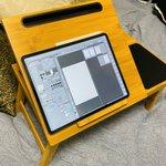 ベッドでiPad作業が簡単にできる!?コストコの机が便利すぎる!