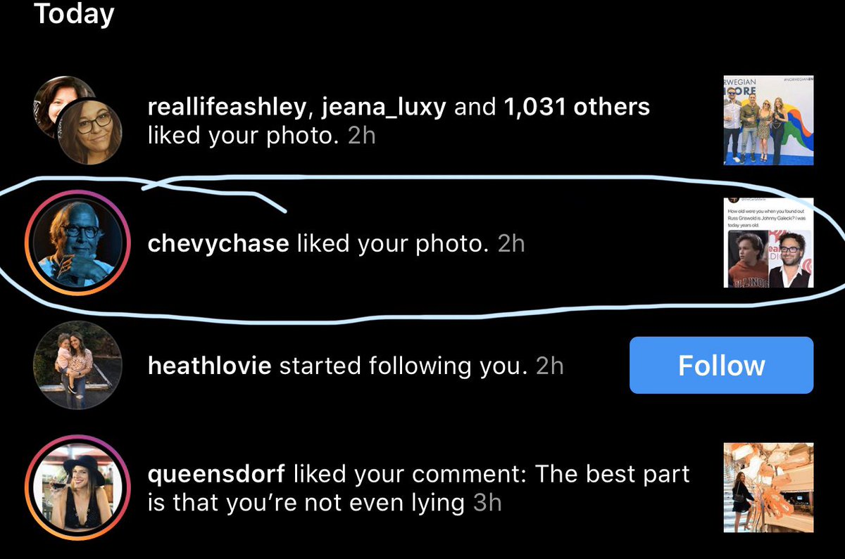 So @ChevyChaseToGo liked my instagram pic from last year and I'm done. Bye. instagram.com/p/BrX1ImBDMhp/…