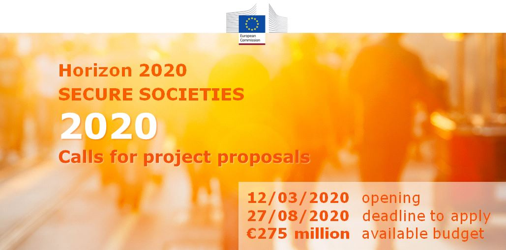 Image result for SECURE SOCIETIES CALLS FOR PROJECT PROPOSALS IN 2020