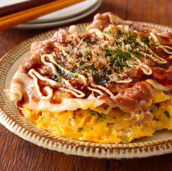 【レシピ】『豚バラ白菜のお好み焼き』白菜余ったら全部これにしてもいいのでは…