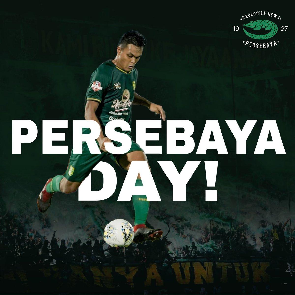 Happy Persebaya Day!  Ayo lanjutkan Tren Positif mu Jol di Kalimantan!🙏🔥 Bismillah bisa membawa 3 poin kembali!💚🐊 #Persebaya #bajolijo #greenforce #CrocodileNews #bonek #bonita #PersebayaDay