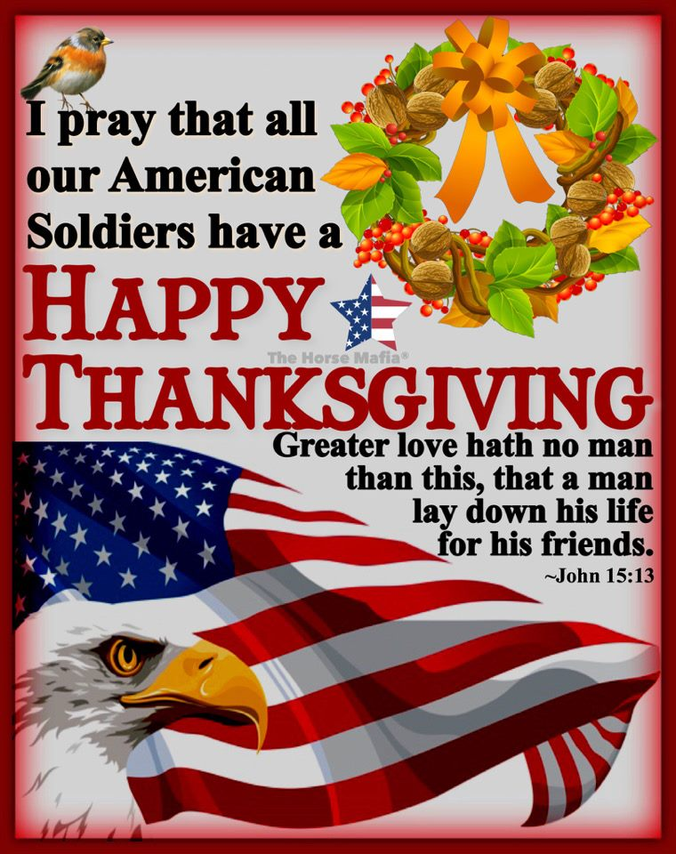 Saying prayers for all the service people working for Thanksgiving. Thank you