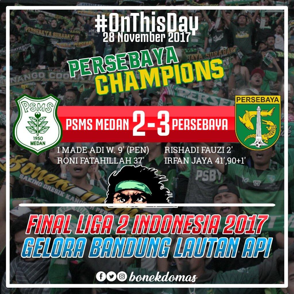 #OnThisDay PERSEBAYA CHAMPIONS  #PersebayaSurabaya #Persebaya1927 #BajolIjo #Bonek #Arekbonek1927 #Loyalis1927 #PersebayaChampions #liga2indonesia
