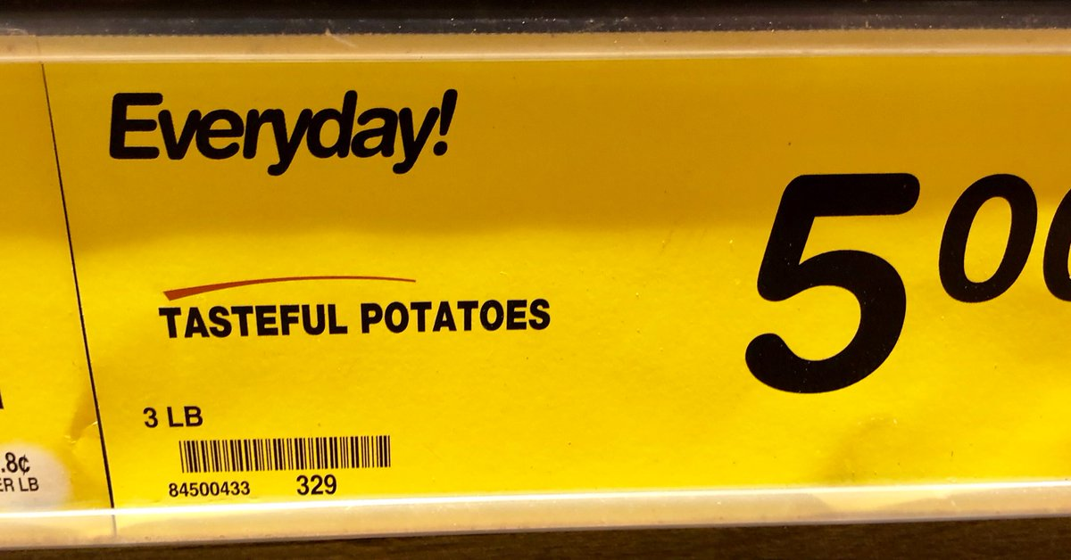 If you must have potatoes, please try to make them