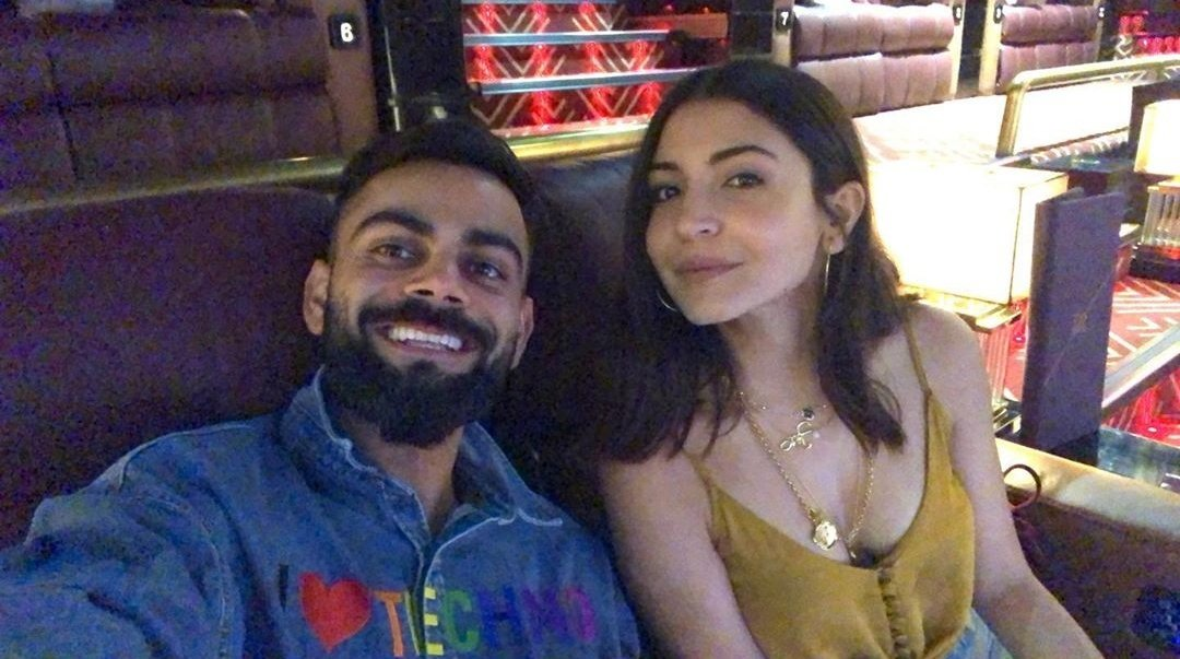 About last night. At the movies with this hottie 😍❤️ @AnushkaSharma
