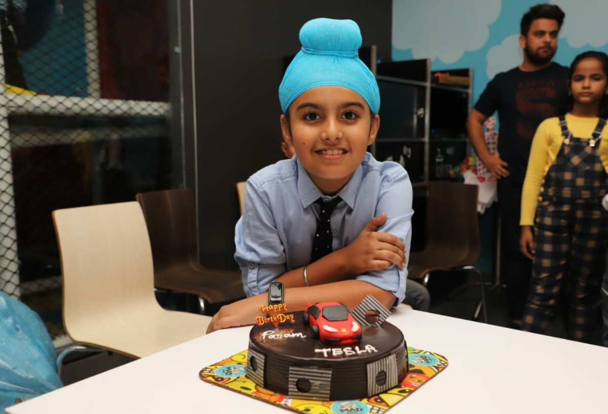 Amandeep Singh On Twitter Hi Elonmusk I Think These Are Your Youngest Fan Celebrating Birthday Party From Last 2 Years With Tesla Cake And Now This Year Its Cybertruck Https T Co W2dbel6oxl