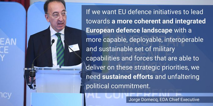 RT @EUDefenceAgency: 🎙️#EDA Chief Executive…