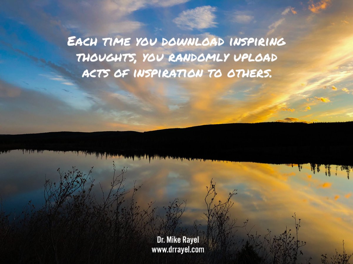 Each time you download inspiring thoughts, you randomly upload acts of inspiration to others. #inspirationalquote #wisdomquote #wisdomwords #foodforthought #motivationalmd