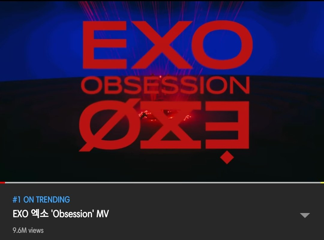 """EXO'S COMEBACK """"OBSESSION"""" IS CURRENTLY #1 ON TRENDING IN YOUTUBE!!! ROAD TO 10M VIEWS WITHIN 24HRS??????? YAY LEZZGO #EXO #EXODEUX #EXOvsXEXO #EXObsessionOutNOW @weareoneEXO @exoonearewe<br>http://pic.twitter.com/e1zu6ohdHy"""