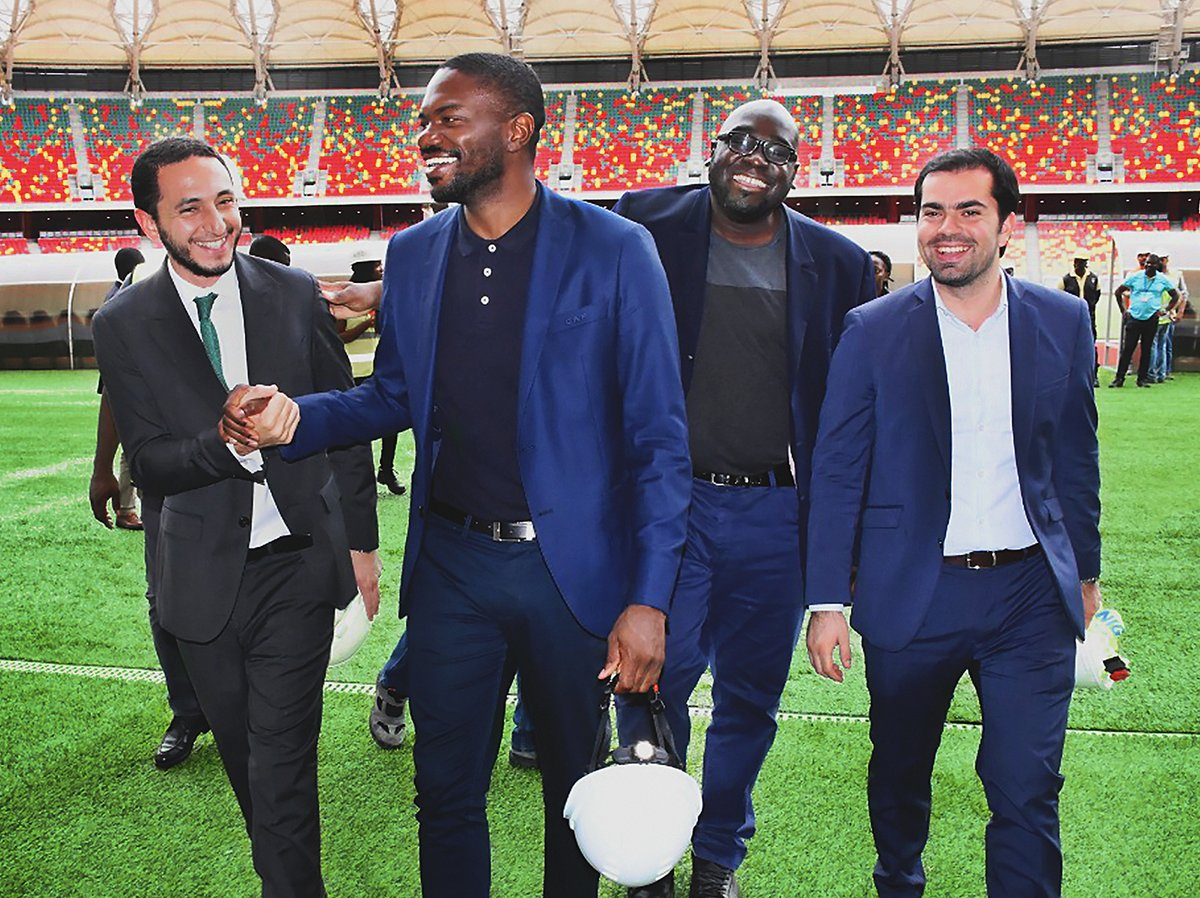 A delegation from the CAF recently visited the stunning Japoma Stadium in Douala, Cameroon in preparation of the next CHAN games. We are proud to have installed the natural pitch and glad to have played a role in laying the groundwork for the upcoming games in 2020!