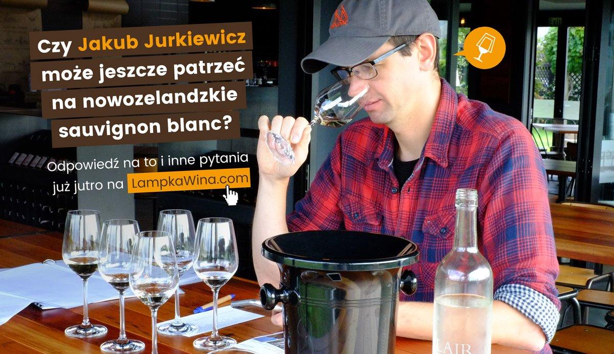 Już jutro lampka wina z Jakubem Jurkiewiczem. Zaglądajcie na bloga -  #wywiad