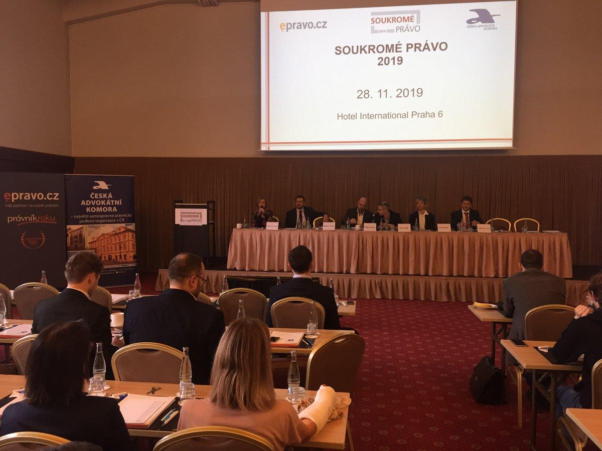 test Twitter Media - Konference #SoukroméPrávo, kterou pořádají @CAK_cz a @epravo právě začala. Již zítra přinese #Advokatnidenik zprávu o nejdůležitějších tématech pro ty, kteří se nemohli konference zúčastnit. https://t.co/K9orwtuAOV