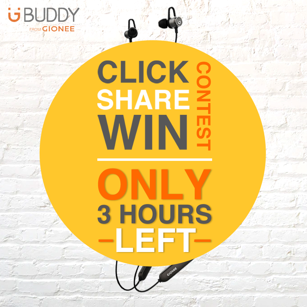 Participate in the Click-Share-Win contest before it ends! Stand a chance to win #Gionee EBT1W Bluetooth Headset: 1. Click on the Flipkart link- http://bit.ly/GioneeEBT1W 2. Share the product page on your Twitter profile with #GioneeClickShareWin 3. Tag your friends (Optional)