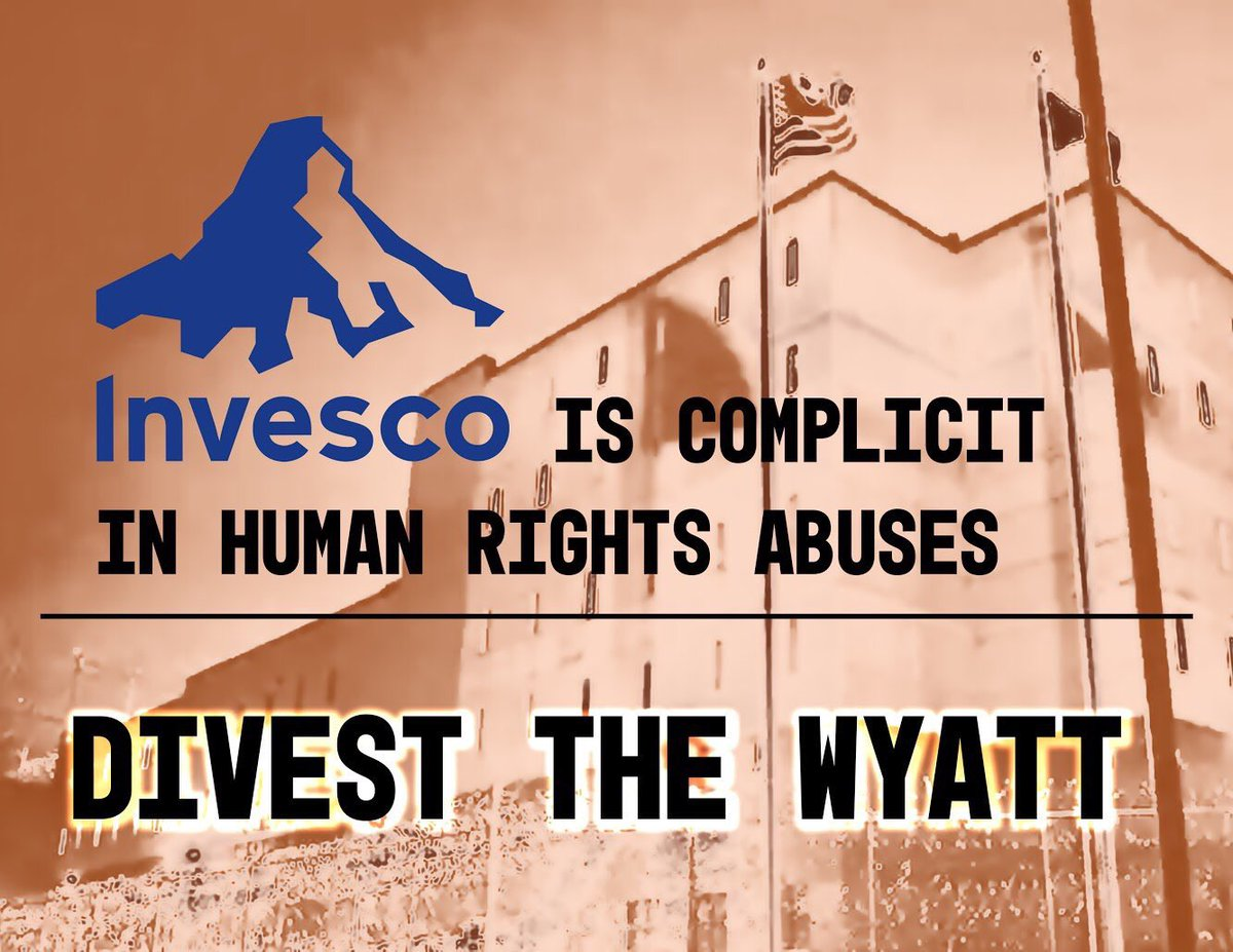 """Today @InvescoUS is sponsoring the """"#Thanksgivinghalf"""" marathon in Atlanta. #Invesco doesn't want you to know that they are the top investor in a private prison and ICE detention center in RI. #ShutDownWyatt #DivestTheWyatt"""