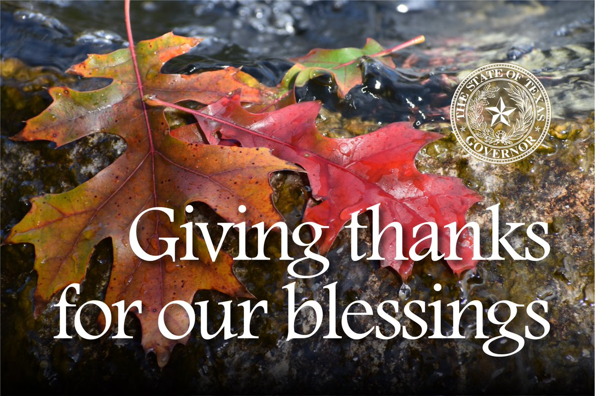 Our blessings flow from the bounty of this land, the love of our families and the gift of grace from above. From our family to yours, Happy Thanksgiving!