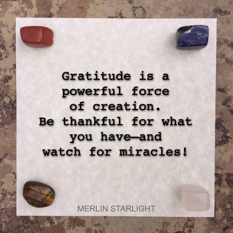 The act of gratitude truly does inspire miracles.  #mindmagic #gratitude #grateful #thankful #thankfulness #thankfulquotes #bethankful #miracles #magic #magical #magick #LOA #uplifting #powerfulthoughts #mindpower #mindset #successmindset #alchemy #power #powerful<br>http://pic.twitter.com/WB5CVIppvF