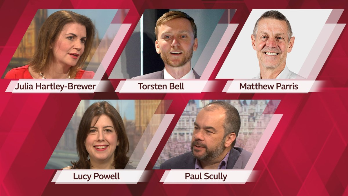 Coming up at 1200 ⁦@afneil⁩ with #politicslive and guests ⁦@TorstenBell⁩ Matthew Parris ⁦@JuliaHB1⁩ ⁦@LucyMPowell⁩ ⁦@scullyp⁩ for all the latest from #ge2019