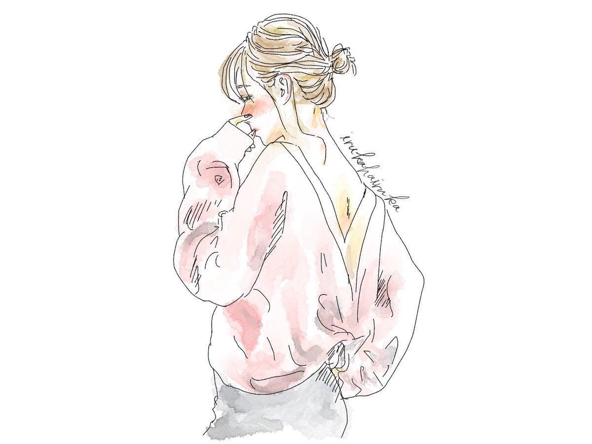 いるかはいるか Ar Twitter イラスト イラストレーター Illustrator イラストac いるかのはなし いるかはいるか シンプル ファッション こなれ感 水彩 女の子 かわいい かわいい女の子 イラストグラム イラスト好き おしゃれ女子 おしゃれ 絵師