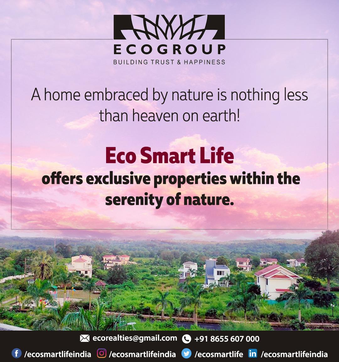 Eco Smart Life offers exclusive properties within the serenity of nature.😍  For further details, 📩 ecorealties@gmail.com 📞 +91 8655607000 - #ecosmartlife #nature #palmvillage #weekendhome #weekendgetaways #investment #naturelove #beautynature