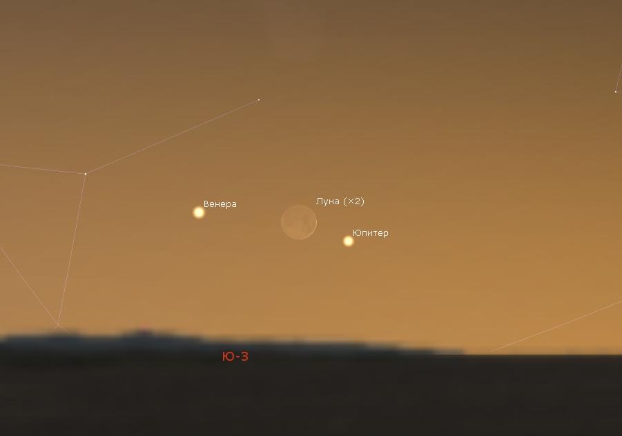 фото сближения луны и венеры либо