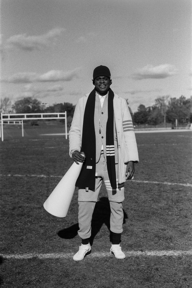... referee holder ... thom browne football 2019. ph:  #emmalouiseswanson  @JoeHolder_   #thombrowne  #thombrownefootball