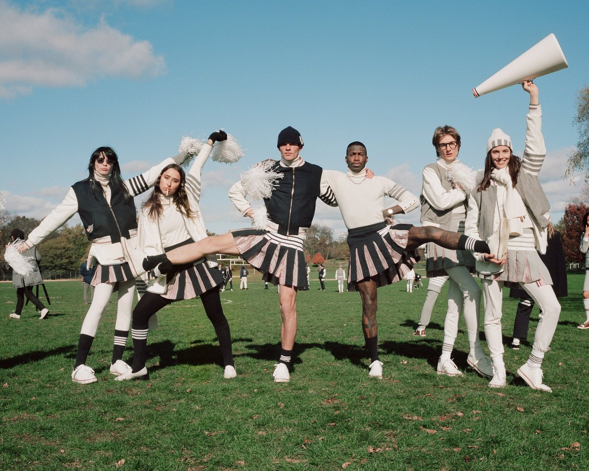 ... game on ... thom browne football 2019. view more now, on  http://vogue.com  https://bit.ly/2L3URFt  @voguemagazine  @VogueRunway   #thombrowne  #thombrownefootball